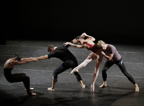 dancehistory:  Ashley Bouder, David Prottas, Ana Sophia Scheller, and Christian Tworzyanski