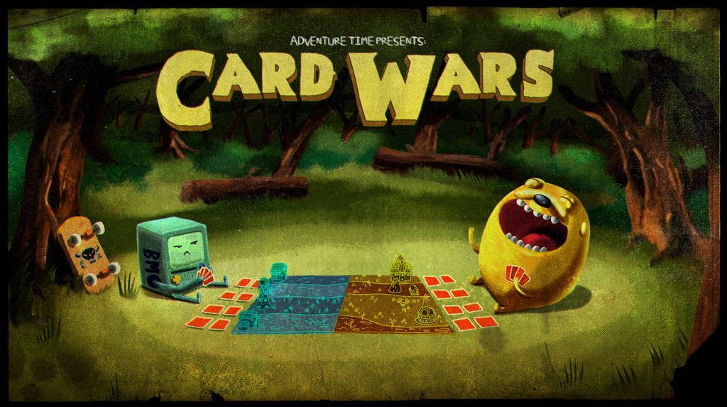 Adventure Time - Card Wars  Jake wrangles Finn into a super complicated game and Finn starts winning, but must throw the game to keep Jake happy. After watching several episodes of TableTop online, I certainly understand how crazy these games can be. Ain't I great?