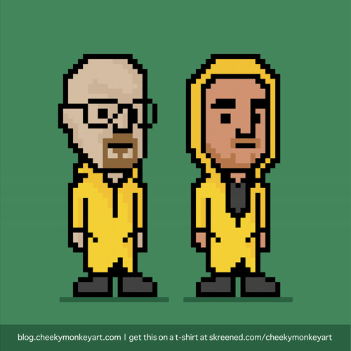 8-Bit Breaking Bad | Purchase this on a t-shirt, or as a digital print / wall art.