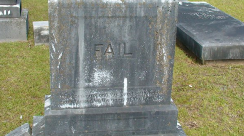 Gravestone Fail Death is truly a life fail.