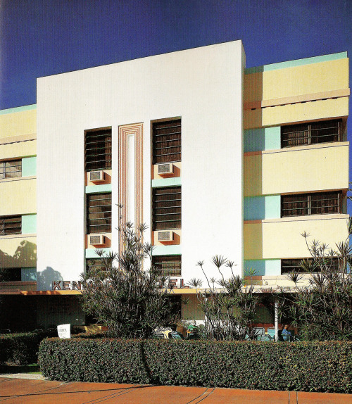 Kenmore Hotel, 1050 Washington Ave., Miami Beach, FloridaFrom Tropical Deco Right next door to the Hotel Taft, posted earlier. From the book:  Kenmore - 1050 Washington, (Anton Skislewicz, 1936.)  Here is the location on Google Street View.