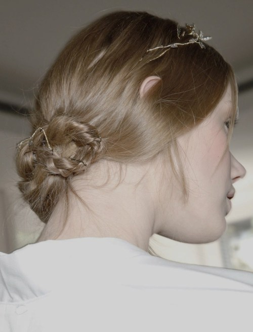 Backstage at valentino couture fall/winter 2011