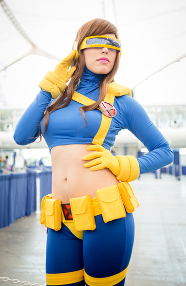 A female Cyclops poses for MTV Geek at San Diego Comic-Con 2012. | MTV Photo Gallery
