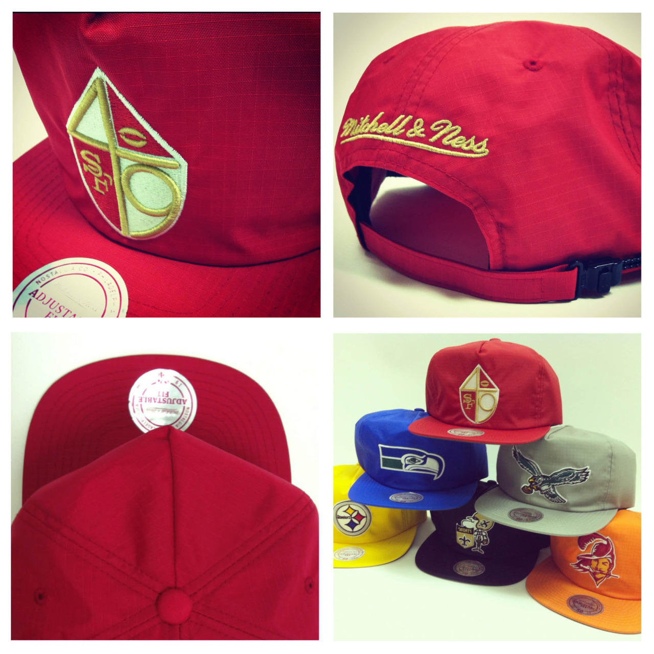 I need the San Fran cap. #NinersGang mitchell-ness:  NFL Nylon Zipback