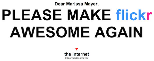 parislemon:  theatlantic:  What the Internet Wants From Marissa Mayer, in Five Words  Amen.