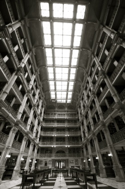 The Peabody Library, Baltimore MD. Architect Edmund G. Lind 1878.