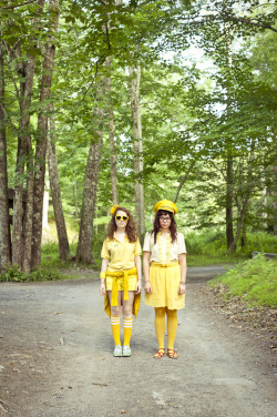 gabherman:  Lauren and Michelle,  perfectly styled in head-to-toe yellow for our massive color wars shoot at Phoot Camp this year, led by Steph Goralnick.  ©gabrielaherman