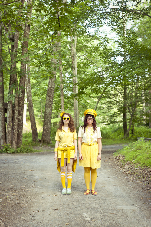 Lauren and Michelle,  perfectly styled in head-to-toe yellow for our massive color wars shoot at Phoot Camp this year, led by Steph Goralnick.  ©gabrielaherman