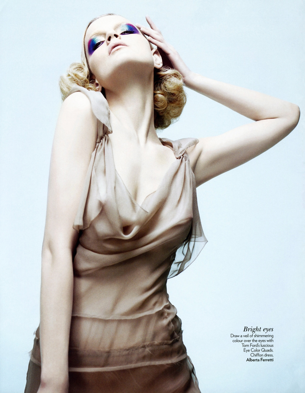fromobscuretodemure:  Guinevere van Seenus in Alberta Ferretti, photographed by Willy Vanderperre for Vogue India May 2012.