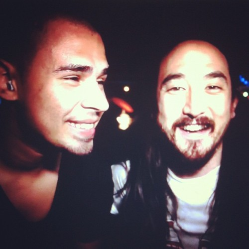 My favourite DJs #afrojack @steveaoki #afroki bloody awesome music! 😝 (Taken with Instagram)