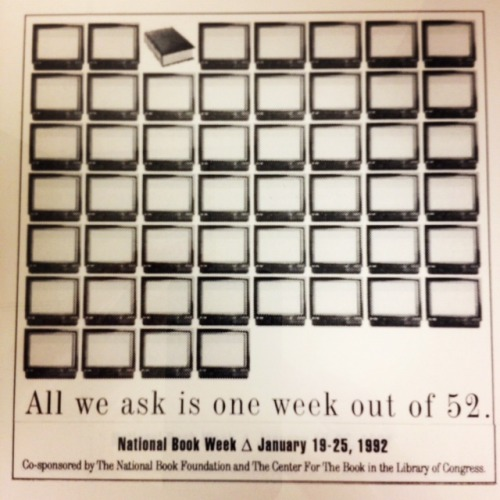 Archives fun find: National Book Week ad from 1992