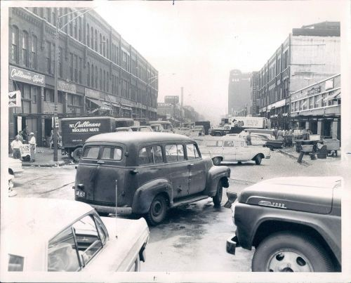 calumet412:  Looking west on Fulton Market, 1961, Chicago. When it was the TRUE meat packing district, way before all the trendy restaurants.