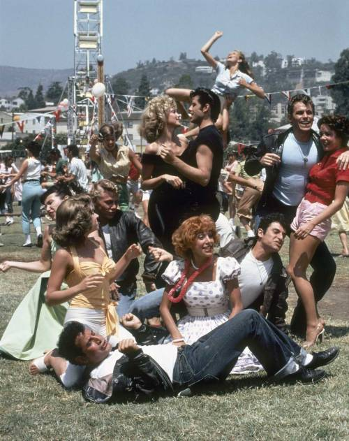 The cast of 'Grease', 1978,