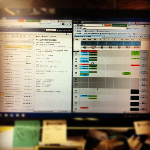 My new life :p making appts and answering phones  (Taken with Instagram)