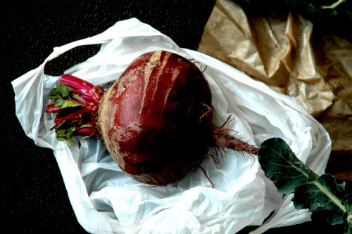 Local Organic Beet.  We eat organic foods to protect our bodies and the environment from pesticides. Pesticides hurt our organism and destroy natural ecosystem.
