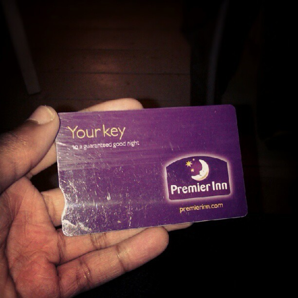 Have a premier inn hotel key. No idea why. (Taken with Instagram)