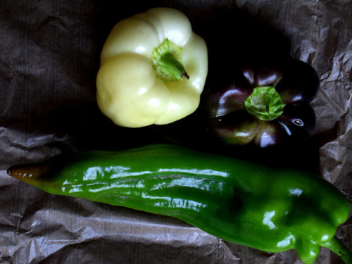 Local Organic Summer Bell Peppers.  We eat organic foods to protect our bodies and the environment from pesticides. Pesticides hurt our organism and destroy natural ecosystem.