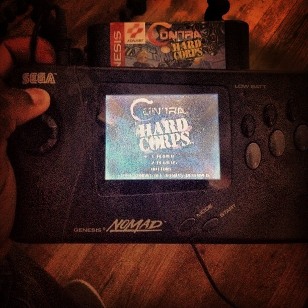 #SegaGenesisNomad #Contra #videogames #oldschool #stillworking ##bestpic #instagood #picoftheday #memories #childhood (Taken with Instagram at The Swag Shack)