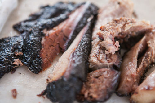And now…ARBITRARY AWESOME MEAT PHOTO. Like this beautifully-barked brisket at Lockhart Smokehouse (from the foods of Taste of Dallas).
