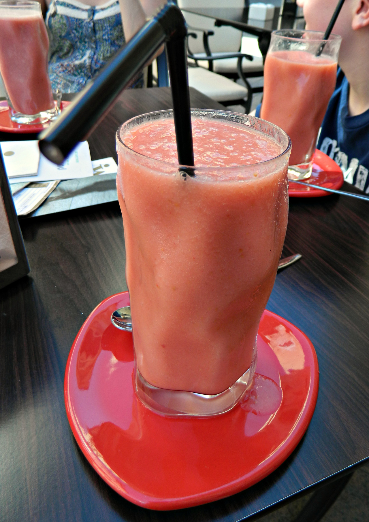 Mango and raspberry smoothie from a little cafe in Murcia. We found a cafe when wandering throughout the streets of Murcia that does smoothies WITHOUT yoghurt - so of course had to stop there! This was refreshing and delicious and yum. :)