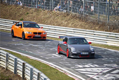 German Civil War Starring: BMW M3 GTS and Porsche 911 GT3RS (by Niklas Emmerich Photography)