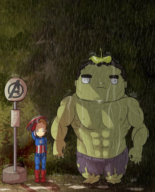 lady-sorceress:  OMFG-can't breathe- It's my neighbour, TOTORO