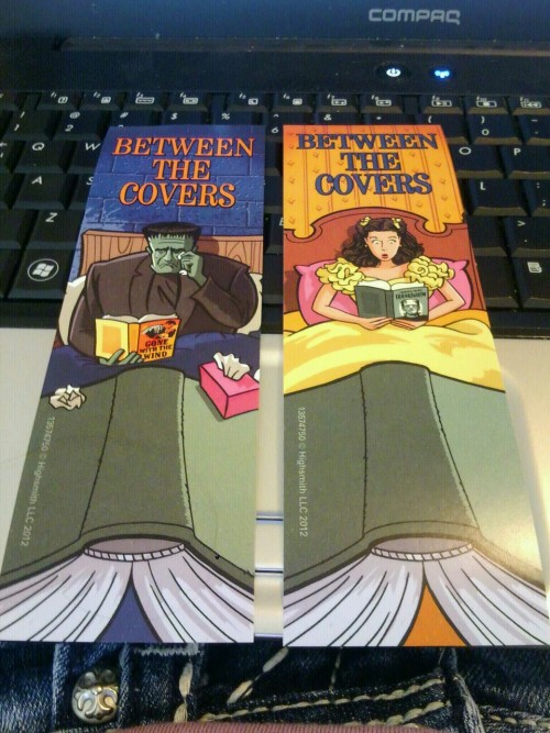 billthunder:  The awesome bookmarks that the Baxter County Library is giving out for free right now.  Love these bookmarks. Also love the sneaky peak of jeans at the bottom!
