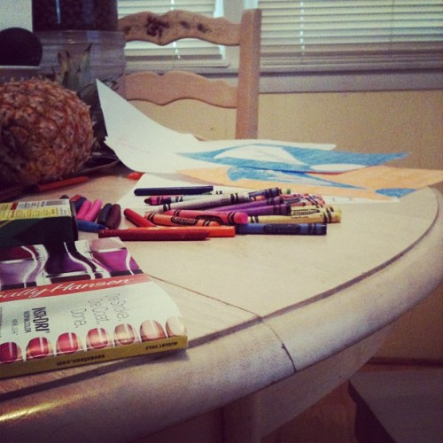 midday designing #crayons (Taken with Instagram)