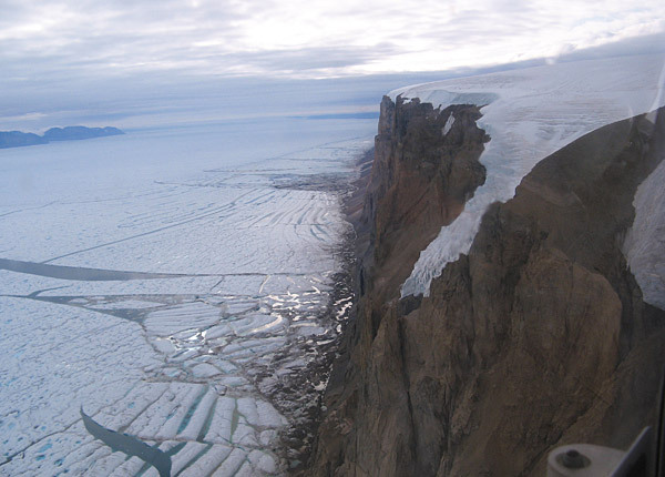 An ice island twice the size of Manhattan has broken off from Greenland's Petermann Glacier, according to researchers at the University of Delaware and the Canadian Ice Service. The Petermann Glacier is one of the two largest glaciers left in Greenland connecting the great Greenland ice sheet with the ocean via a floating ice shelf.  Ohhhh dear. Hey, global warming. (image and article via the University of Delaware's UDaily.)