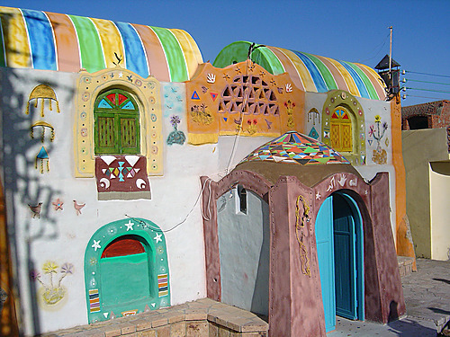 nubiaat:  A traditional Nubian house, Aswan بيت نوبي تقليدي، أسوان