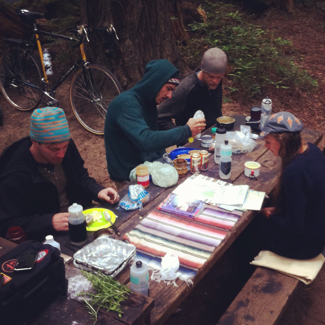 thegrreatescape:  The Hike and Bike camp was crowded with the best of folks