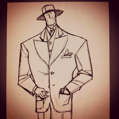 Anson Hunter, first sketch. (Tomada con Instagram)