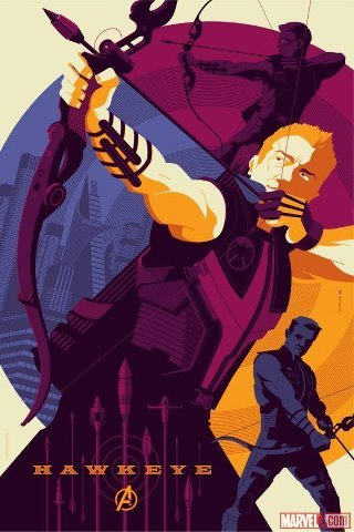The Avengers Hawkeye poster by Tom Whalen