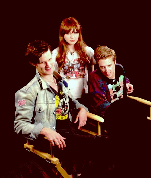 Matt, Karen and Arthur doing press for Comic-Con 2012