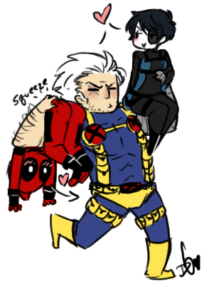 OT3 anyone? XD I had gotten a lot of requests for both Cable/Deadpool…and also more Domino…so this seemed fitting.