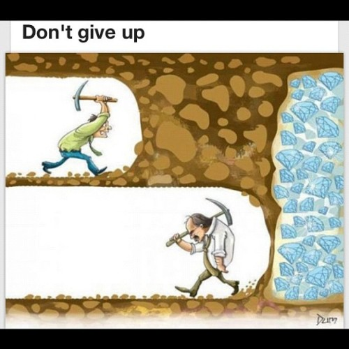 books-and-stars:  Dont give up! (Taken with Instagram)