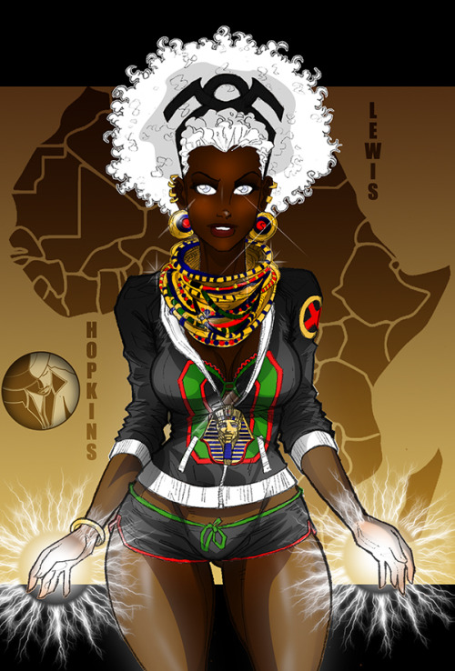 blackfolksmakingcomics:  geekscoutcookies:  creaturesfromdreams:  Afrocentric Storm #7 - Jack Lewis Collab by ~Lionious —-x—- More: | Marvel | Random |  yes.  Simply beautiful.
