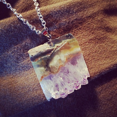 oh-darlingdarling:  #druzy #handmade #necklace #fashion #jewelry #amethyst #crystal (Taken with Instagram)
