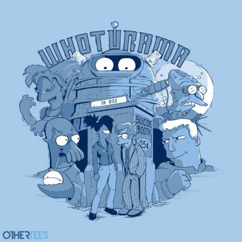 "othertees:            ""Whoturama"" by TEEvsTEE. T-shirt on sale 17 - 20th July on OtherTees for 7.5£/9€/12$."