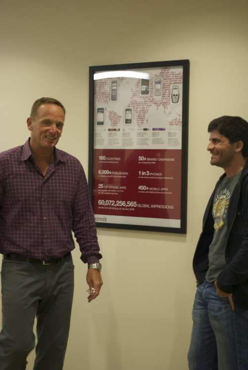 Jim shows Omar our beloved AdMob decor.