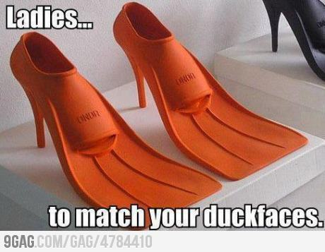 Should be required footwear once you take a pic with duck face. They gotta learn.