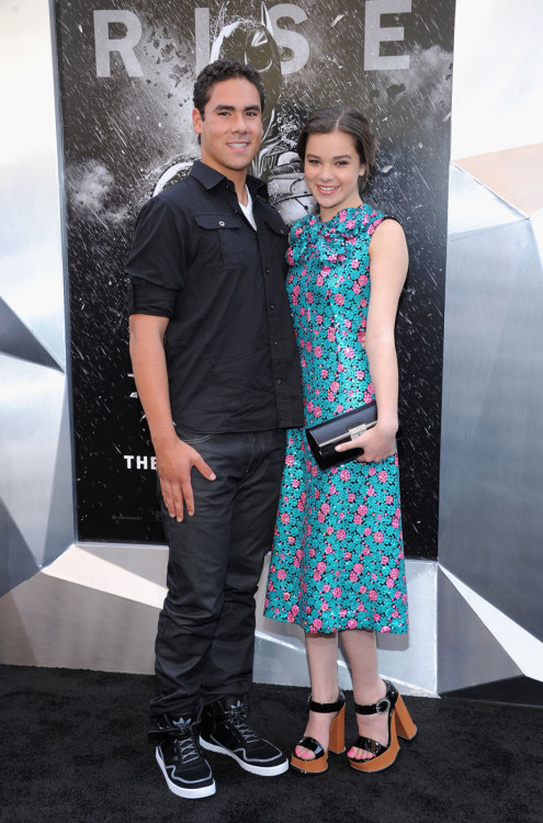 Griffin and Hailee Steinfeld | 'The Dark Knight Rises' premiere at the AMC Lincoln Square Theater in NYC - July 16, 2012