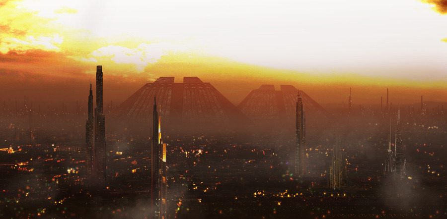 Blade Runner via Fictional skyscrapers