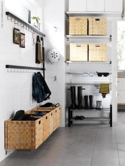 ikea organization: open mudroom