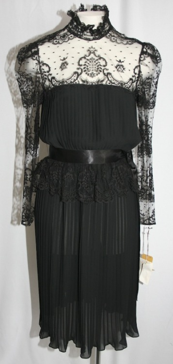 Vintage YSL lace evening dress