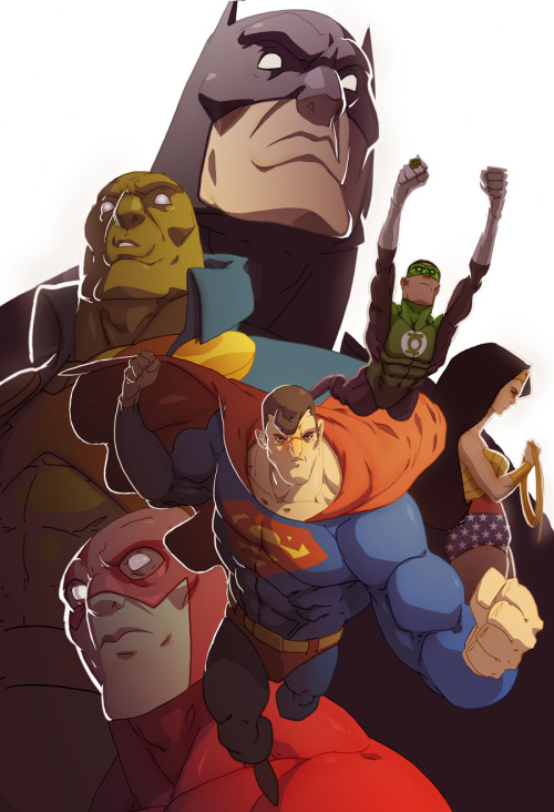 JLA… by Hugh Freeman… #BADASSERY!