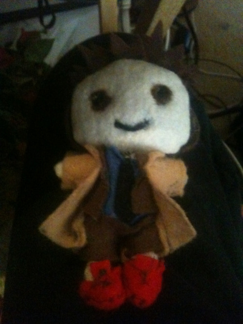 Here, have an ugly and horribly pale Tenth Doctor Plushie.  I finished this a couple of weeks ago, but I never got around to posting it. Oh, well. Here ya go!  Also, tag spam because I want followers on this blog. ;~;