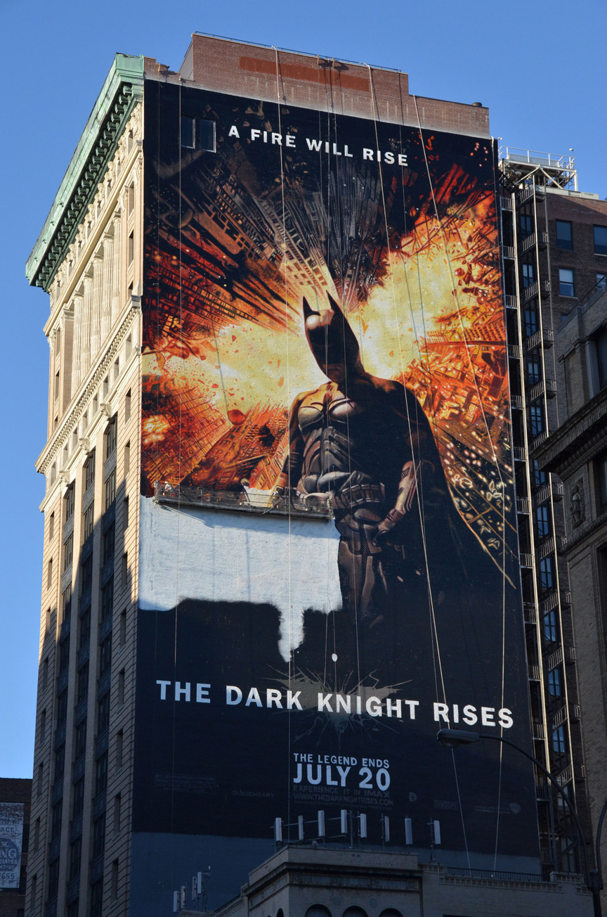 This is How You Paint a 150 Foot Tall Batman Can see this gigantic ad out the windows on the East side of our office. Absolutely incredible that it is completely hand painted.