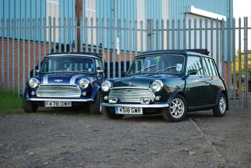 My British Open Classic and my mate Tom's, erm, rather different, Mini Sky! They look like chatting. Thanks!!