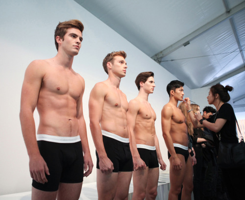 calvinklein:  Line Up. Touch Up. Korea, May 2012